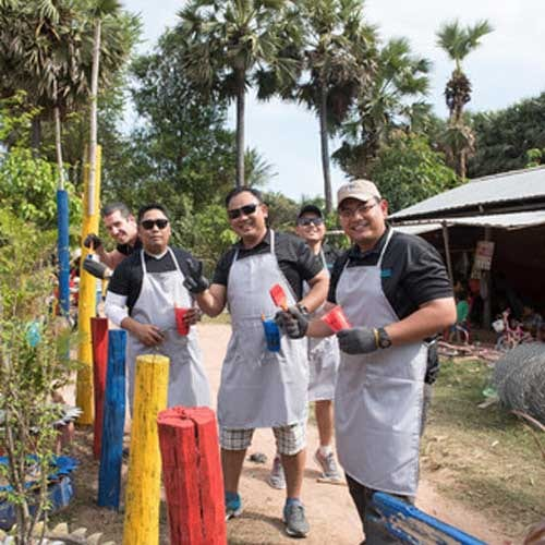 Giving back with the Samrong Village Experience